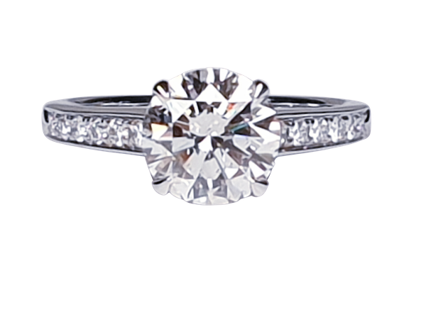 1.85ct solitaire engagement ring  DBGEMS - image 1