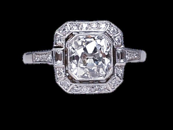 1.42ct cushion cut diamond engagement ring  DBGEMS - image 1