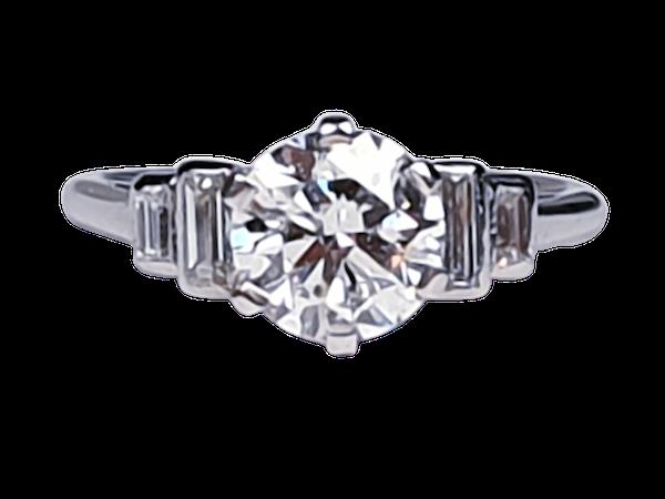 art deco 1.16ct diamond engagement ring  DBGEMS - image 1