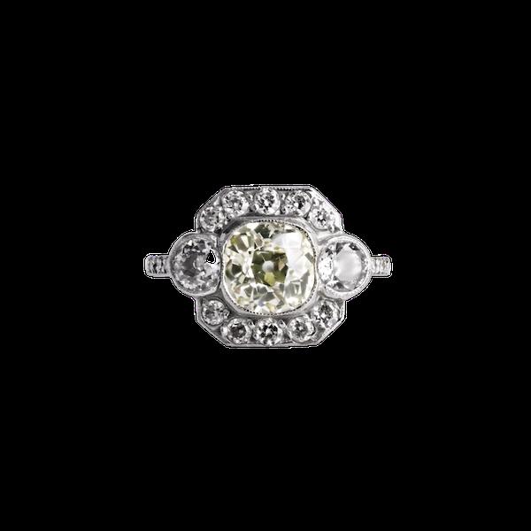 Deco Diamond Ring - image 1