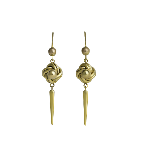 Love knot Deco drop earrings - image 1