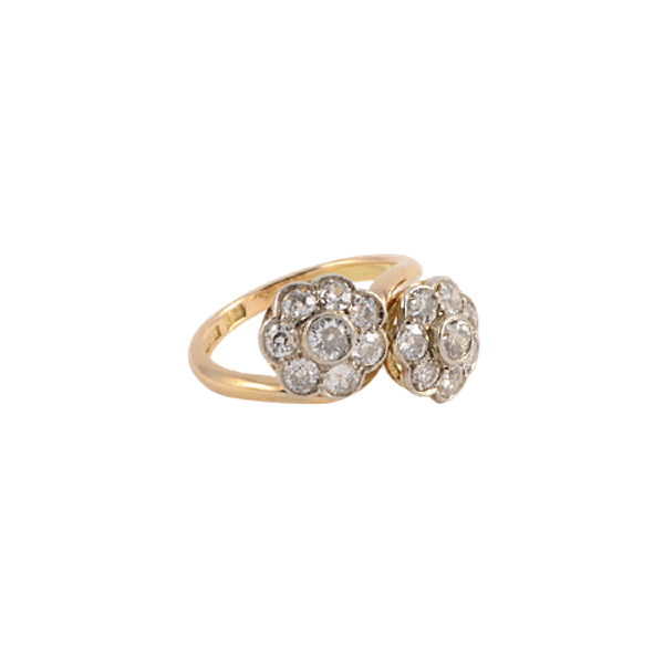 1950's, 18ct Yellow Gold and Diamond stone set Ring, SHAPIRO & Co since1979 - image 6