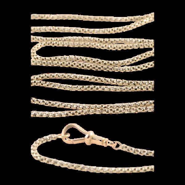 Date: circa 1900, 9ct Yellow Gold long guard Chain, SHAPIRO & Co since1979 - image 7