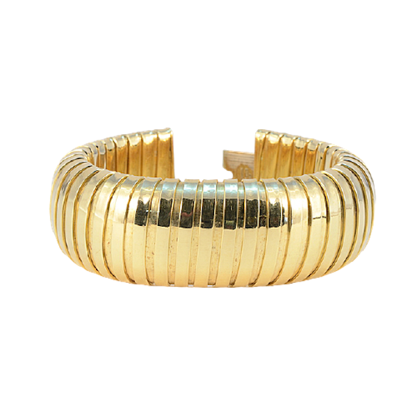 1980's, 18ct Yellow Gold Bracelet by Carlo Weingril, SHAPIRO & Co since1979 - image 9