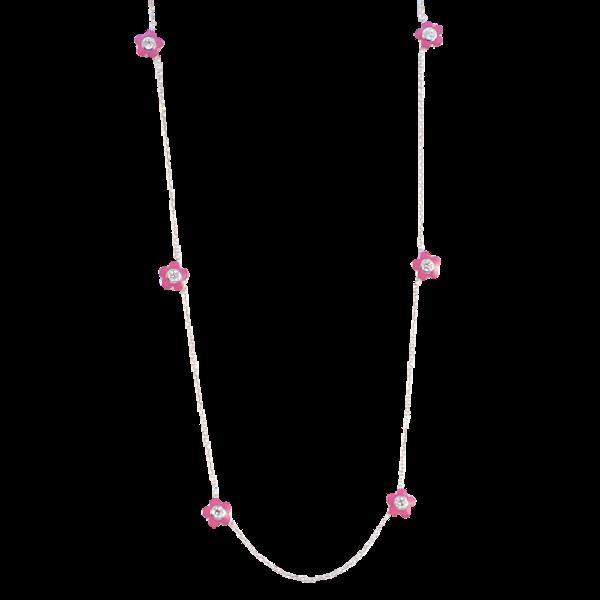 Date: 2010's, 18k White Gold, Enamel and Diamond stone set Necklace (Flamingo Magic) by Lilly Shapiro, SHAPIRO & Co since1979 - image 10