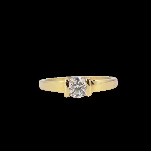 1970's, 18ct Yellow Gold and Diamond stone set Ring, SHAPIRO & Co since1979 - image 5