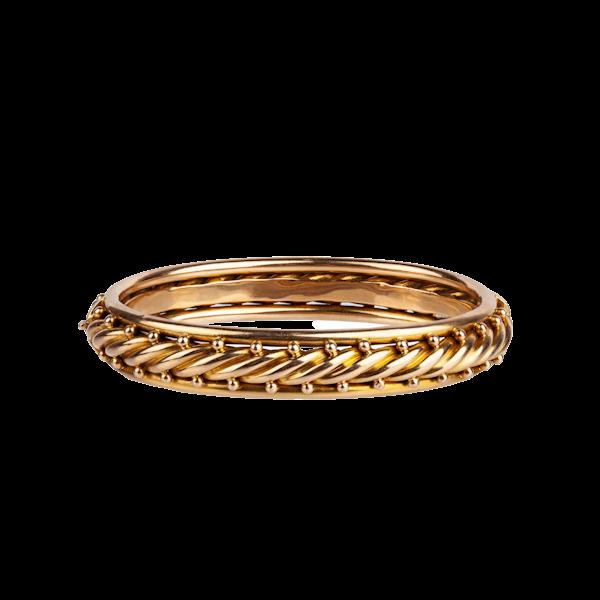 Victorian gold bangle - image 1