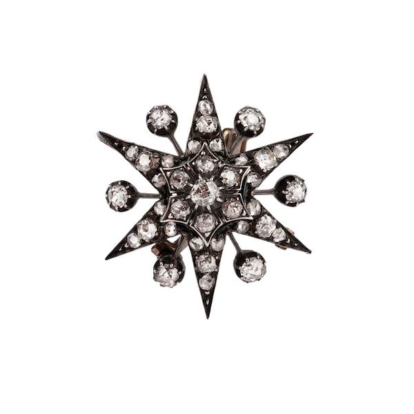 Victorian diamond star brooch/pendant - image 1