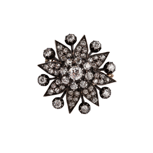 Victorian diamond star brooch - image 1