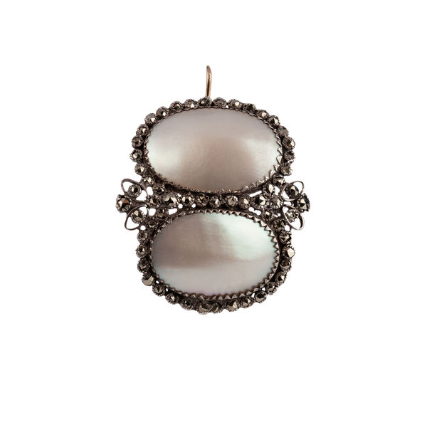 Coq de perle and pyrites earrings - image 1