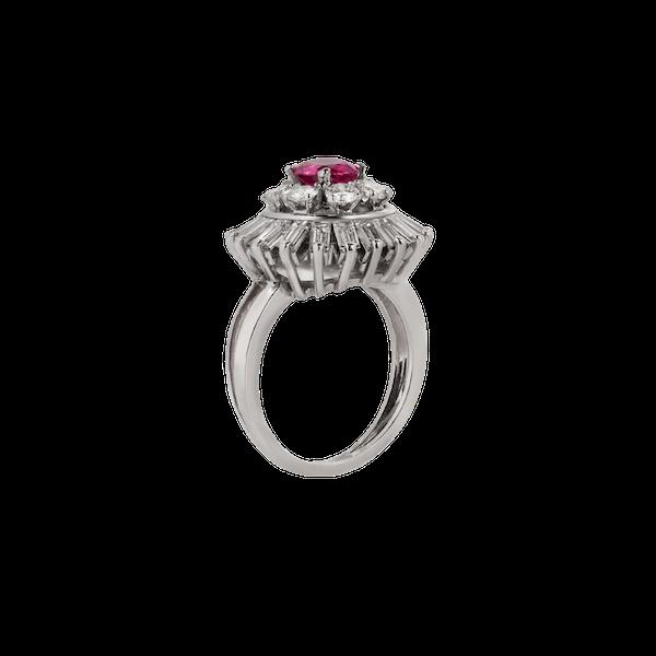 Burma ruby diamond ring - image 1