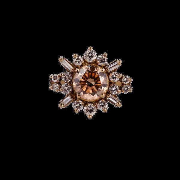 1970s diamond starburst ring - image 1