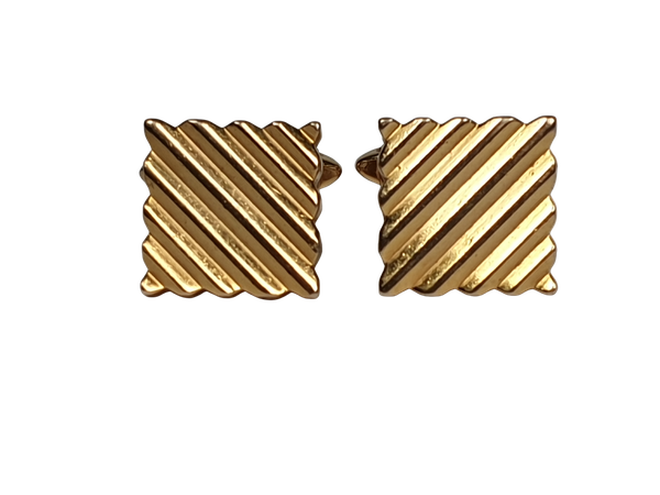 Kutchinsky chunky gold cufflinks  DBGEMS - image 1