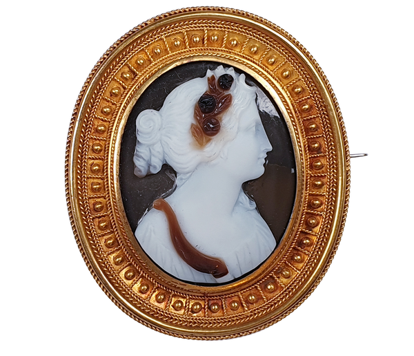 Etruscan revival cameo  DBGEMS - image 1