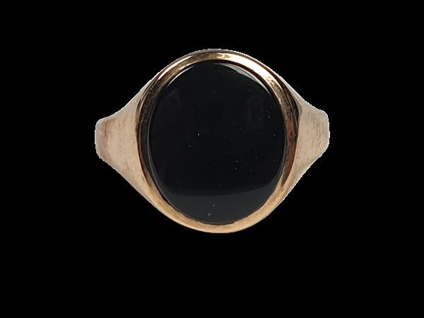 Onyx Signet Ring 3563  DBGEMS - image 1