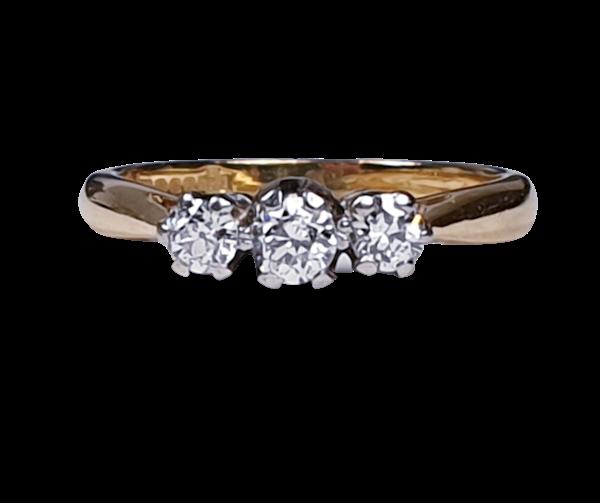 Three Stone Diamond Ring 2754  DBGEMS - image 1