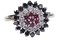 Black Diamond, Diamond and Ruby Ring 2519   DBGEMS - image 1