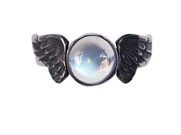 Arts and crafts Winged Moonstone Ring  DBGEMS - image 1