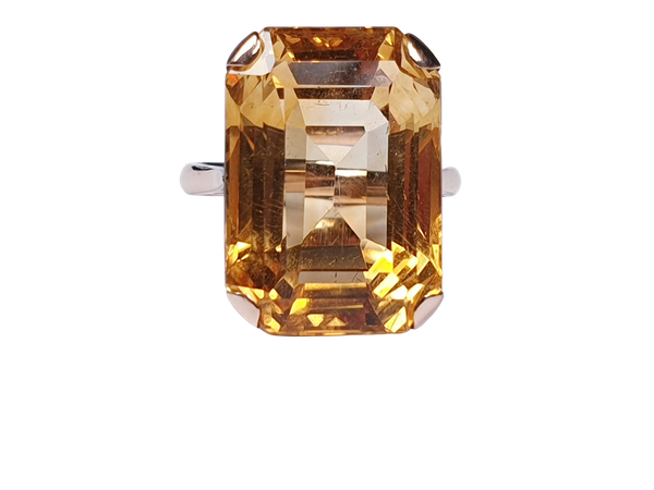 Intense Bright Yellow Citrine Ring  DBGEMS - image 1