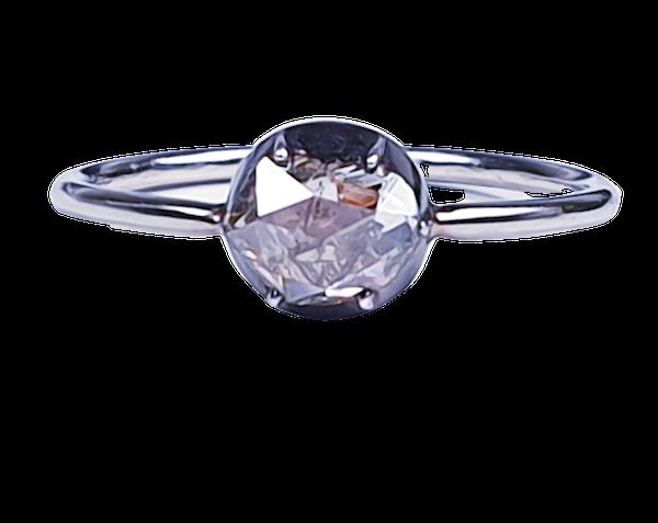 Georgian foiled rose cut diamond single stone ring  DBGEMS - image 1