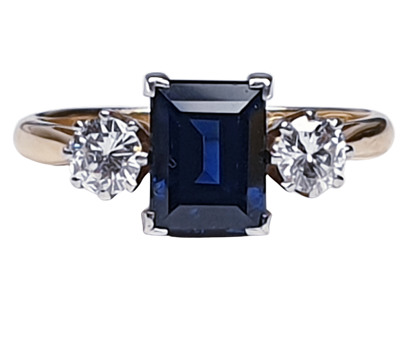 Garrards Sapphire and Diamond Engagement Ring  DBGEMS - image 1