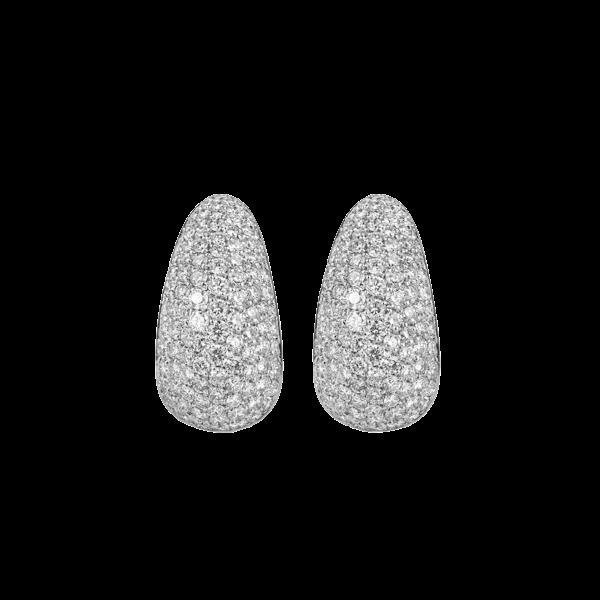 Pave Diamond Set Earrings  DBGEMS - image 1