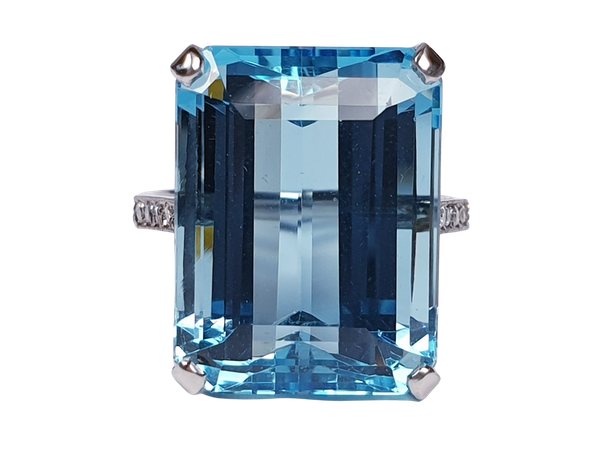 Intense Aquamarine Dress Ring sku 4726   DBGEMS - image 1