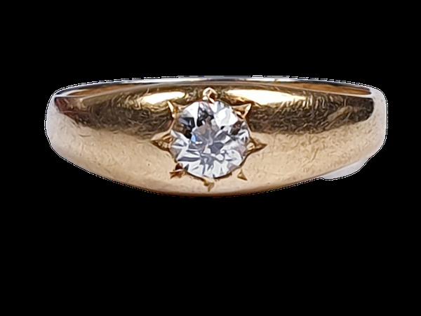 Antique gypsy set diamond ring  DBGEMS - image 1