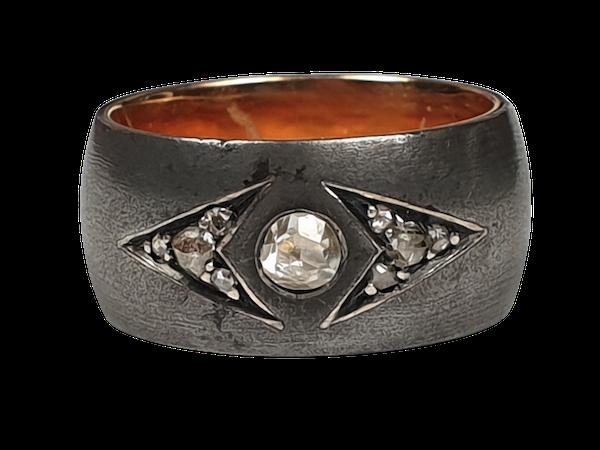 Berlin Iron Rose Cut Diamond Ring  DBGEMS - image 1