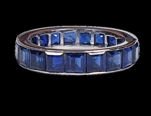 Plump Sapphire Full Hoop Eternity Ring  DBGEMS - image 1