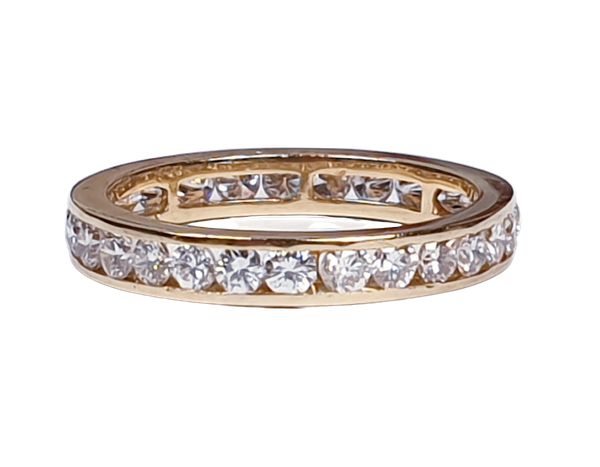 Yellow Gold Eternity Ring - image 1