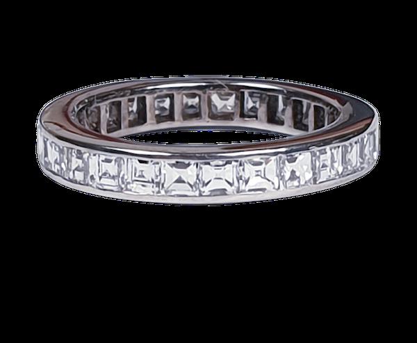 Square diamond full eternity ring 4640  DBGEMS - image 1