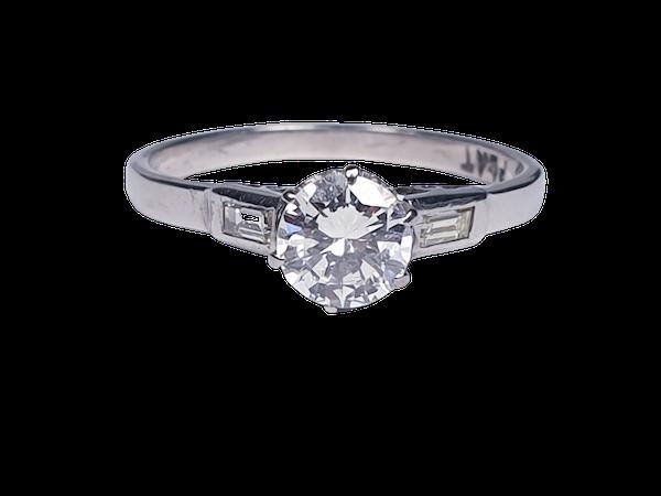 Art Deco Diamond Engagement Ring 3400  DBGEMS - image 1