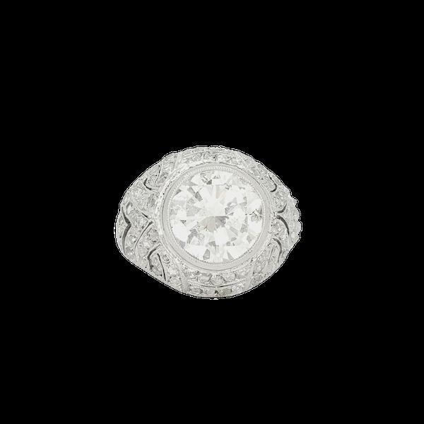 French Art Deco Diamond Ring - image 1