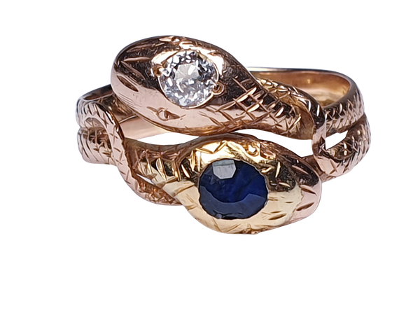 Sapphire and diamond snake ring  DBGEMS - image 6