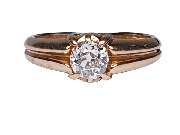 Gentleman's old cut diamond ring  DBGEMS - image 8