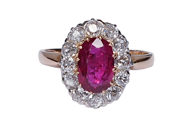 Antique ruby and diamond engagement ring  DBGEMS - image 6