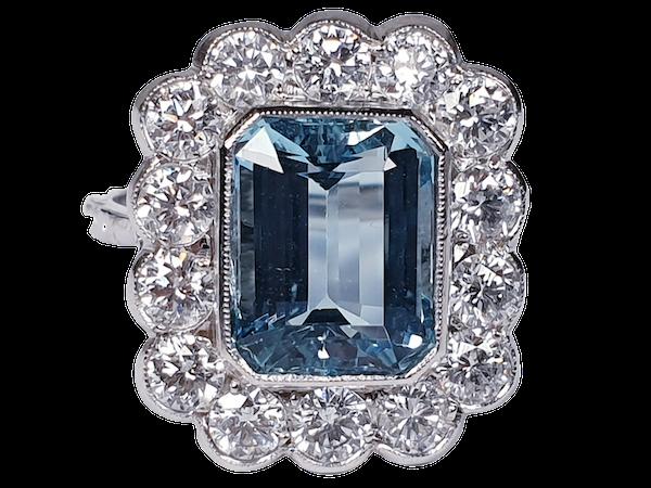 Aquamarine and diamond dress ring  DBGEMS - image 6