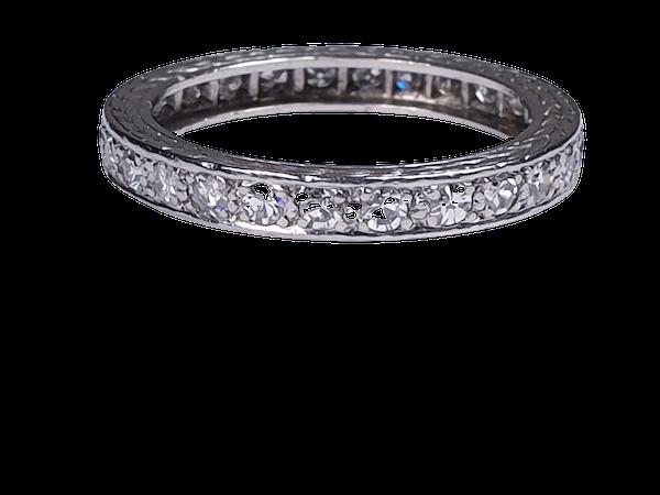 Art Deco Diamond Eternity Ring  DBGEMS - image 3