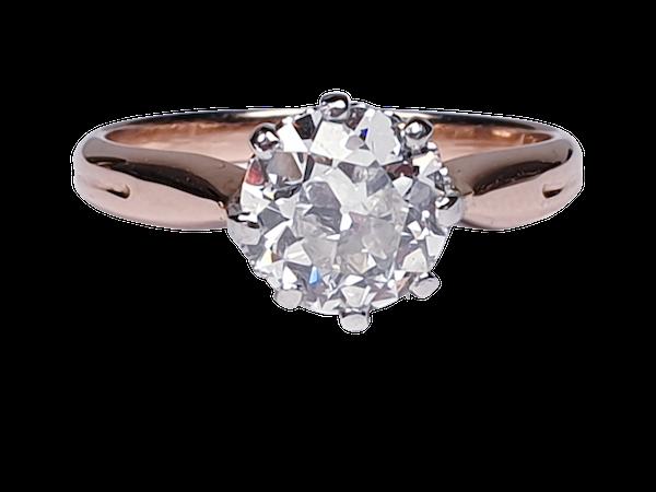 1.41ct Art deco diamond engagement ring  DBGEMS - image 5