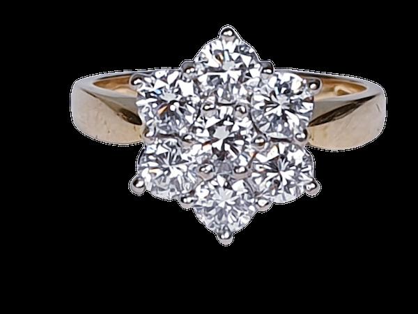 Diamond Cluster Engagement Ring 3473   DBGEMS - image 5