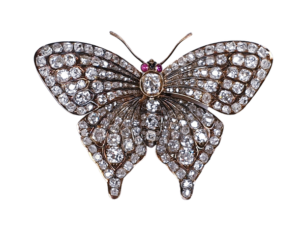 Fine Diamond Butterfly with en tremblant wings  DBGEMS - image 5