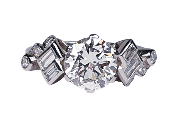 1.61ct 1930's art deco diamond engagement ring  DBGEMS - image 6