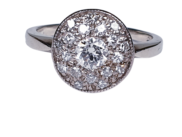 Art Deco Diamond Cluster Ring  DBGEMS - image 4