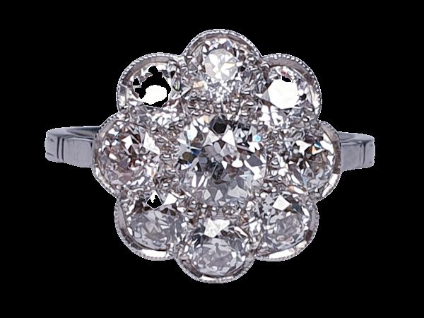 Art Deco French Diamond Cluster Ring  DBGEMS - image 6