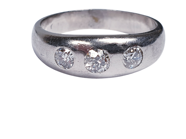 Platinum Gypsy Set Old Cut Diamond Ring  DBGEMS - image 5