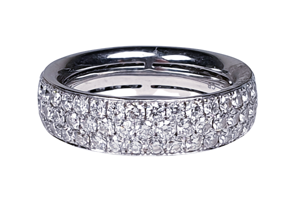 Three Row Diamond Eternity Ring  DBGEMS - image 3