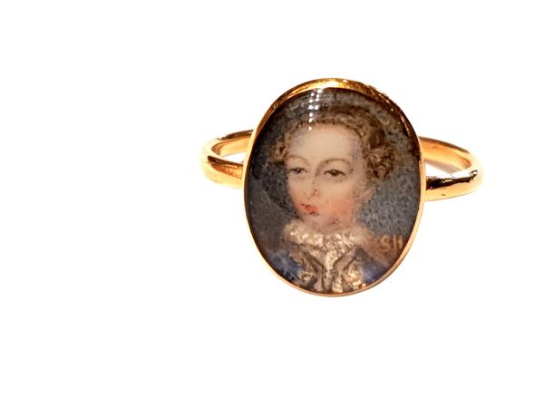 18th century portrait ring of Gustaf III of Sweden  DBGEMS - image 4