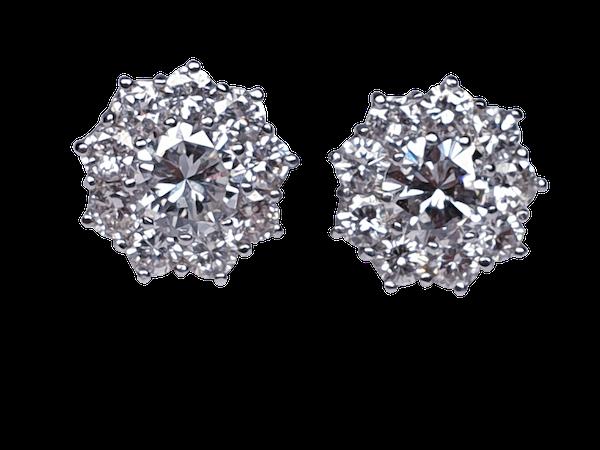 diamond cluster earrings DBGEMS - image 3