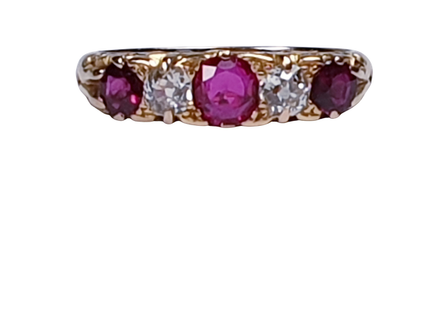 Antique Ruby and Diamond Ring  DBGEMS - image 5
